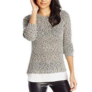 Calvin Klein Knit Black and White Sweater